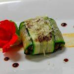 Ravioli de calabacín y foie