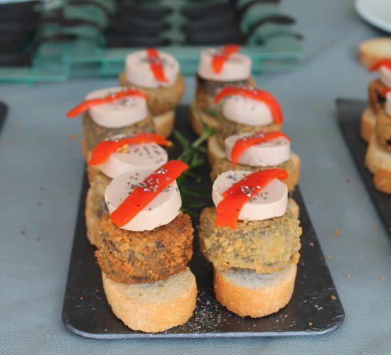 chef a domicilio - coctail buffet - morcilla con foie